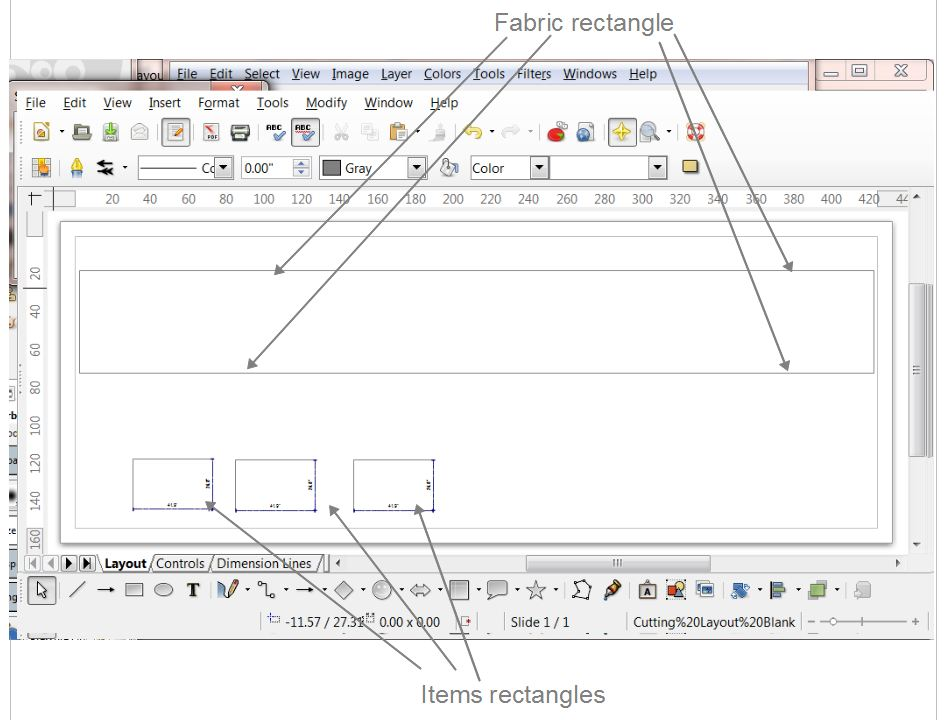 Setting Up LibreOffice To Make Cutting Layouts  | Upholstery