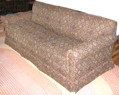 Here Is An Example Of A Sofa With This Same Type Of Skirt Method: