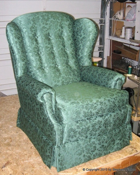 Here Are A Couple Pieces Of Furniture To Show You What A Tailored Skirt  Looks Like. Here Is A Wing Chair With Tailored Skirt.