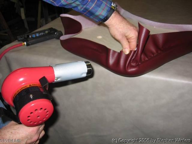 Using A Heat Gun In Upholstery Upholstery Resource - Stretch vinyl for motorcycle seat